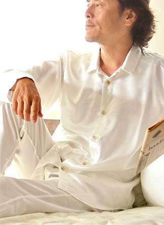 川俣シルクサテンパジャマ