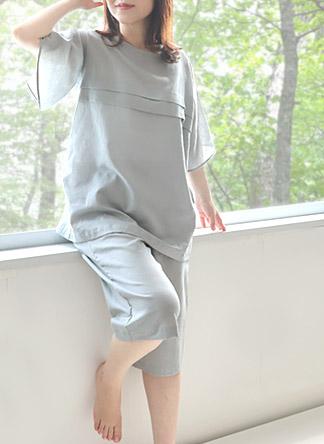 半袖半ズボンガーゼパジャマ
