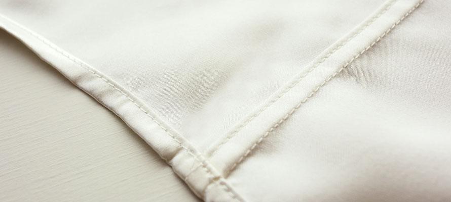 シルクサテン織り伏せ縫い