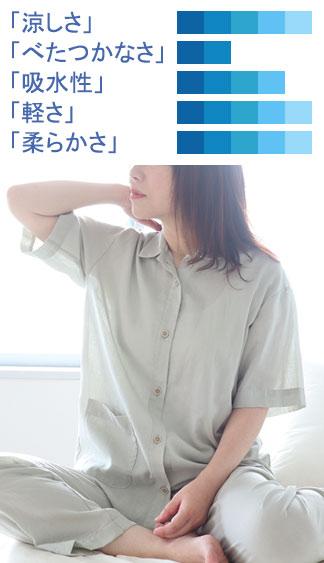 1重ガーゼパジャマ半袖長ズボン