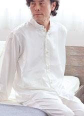 川俣シルクバンドカラーパジャマ