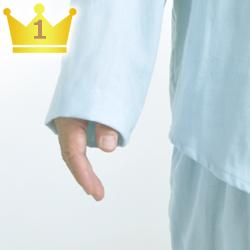 大きいサイズのパジャマによくある袖の調整をサービスします