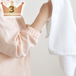 手足の冷え予防、洗顔などに便利なパジャマの袖ゴム