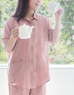パジャマ感を抑えたおしゃれな半袖パジャマ