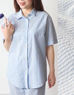 シャツのように上品な半袖デザイン