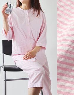 こなれ感ある半端丈パジャマ