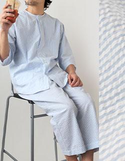 長袖では少し暑いという方に七分袖パジャマ