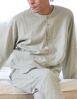 パジャマ感を抑えた綺麗めデザイン