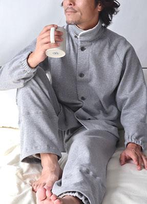 天竺ニットVネックパジャマ